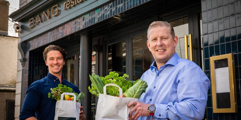 ictured at Bang Restaurant, Merrion Row: Richie Barrett, Bang Restaurant, and Mike Flannery, CEO Bartra. Bartra and Bang have partnered to provide meals to the elderly in the O'Devaney Gardens community.